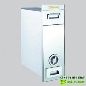 Thùng gạo mặt gương C300 trắng/đen - Phụ kiện tủ bếp Eurogold